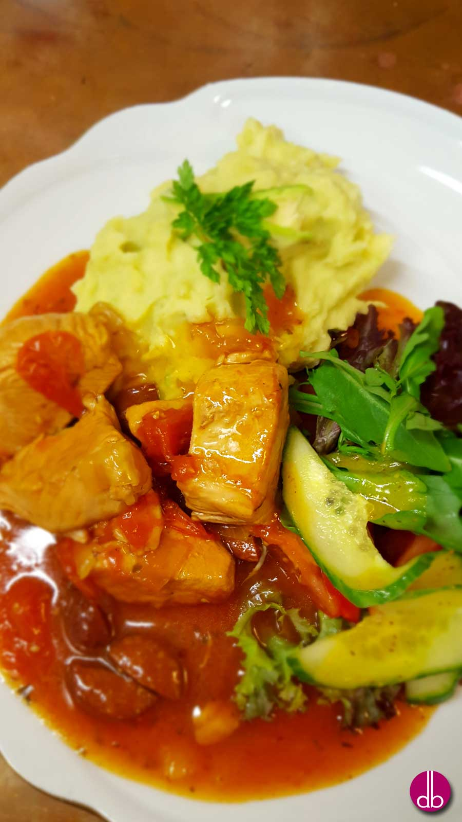 Rezept: Puten-Chili mit Avocado-Kartoffel-Püree