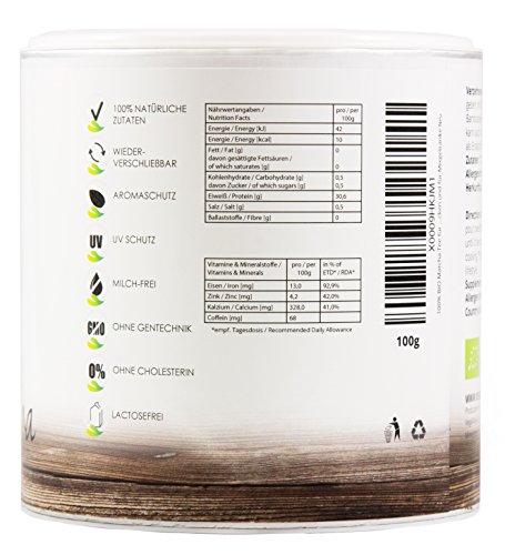 BIO-Matcha-Tee–CookingBIO-Qualitt-Smoothies–Shakes–Matcha-Latte-Hochwertige-Aroma-Schutzdose-OHNE-Zustze-Vegavero-from-Nature-with-Passion-for-You-0