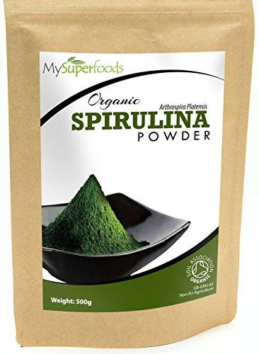 Bio-Spirulina-Pulver-500g-Hchste-Qualitt-Garantiert-organisch-durch-die-Soil-Association-Von-MySuperfoods-0