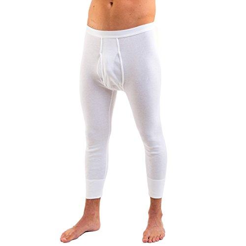 HERMKO-3440-Herren-34-lange-Unterhose-mit-Eingriff-wadenlange-Unterziehhose-aus-100-EU-Baumwolle-in-Feinripp-0