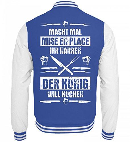 Hochwertige-College-Sweatjacke-Koch-Shirt-Knig-Will-Kochen-Gastronomie-Gastro-T-Shirt-Arbeitskleidung-Lustig-GESCHENK-IDEE-0