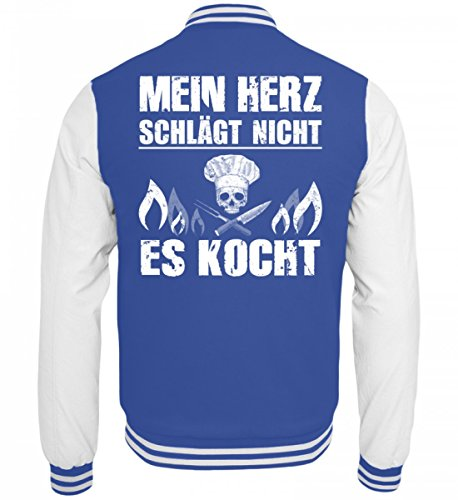 Hochwertige-College-Sweatjacke-Koch-Shirt-MEIN-HERZ-KOCHT-Gastronomie-Gastro-T-Shirt-Arbeitskleidung-Lustig-GESCHENK-IDEE-0