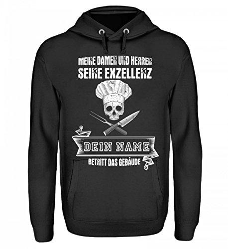 Hochwertiger-Unisex-Hoodie-Koch-Shirt-SEINE-EXZELLENZ-DER-KOCH-Gastronomie-Gastro-T-Shirt-Arbeitskleidung-Lustig-GESCHENK-IDEE-0