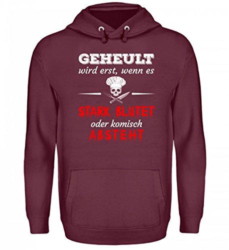 Hochwertiger-Unisex-Kapuzenpullover-Hoodie-Koch-Shirt-Geheult-Wird-Erst-Wenn-Es-Blutet-Gastronomie-Gastro-T-Shirt-Arbeitskleidung-Lustig-GESCHENK-IDEE-0