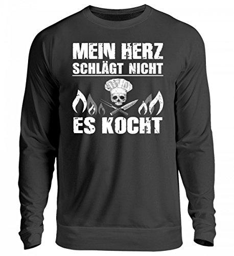 Hochwertiges-Unisex-Sweashirt-Koch-Shirt-MEIN-HERZ-KOCHT-Gastronomie-Gastro-T-Shirt-Arbeitskleidung-Lustig-GESCHENK-IDEE-0