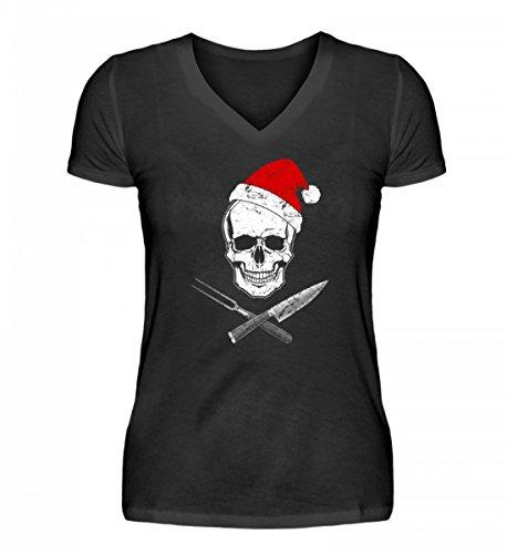 Hochwertiges-V-Neck-Damenshirt-Koch-Shirt-XMAS-WEIHNACHTS-GASTRO-Gastronomie-Gastro-T-Shirt-Arbeitskleidung-Lustig-GESCHENK-IDEE-0
