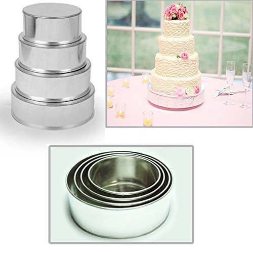 Hochzeit-Kuchenform-Runde-Backform-4er-Set-cake-pans-tins-by-EUROTINS-0