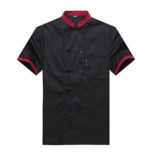 Kochjacke-Unisex-Kurzarm-Kche-Hotel-Uniform-Kochkleidung-CFM0007-0