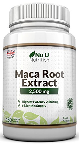Maca-Wurzel-2500-mg-hochdosiert-mit-wichtigen-Vitalstoffen-6-Monats-Versorgung-180-Kapseln-Nahrungsergnzungsmittel-von-Nu-U-Nutrition-0