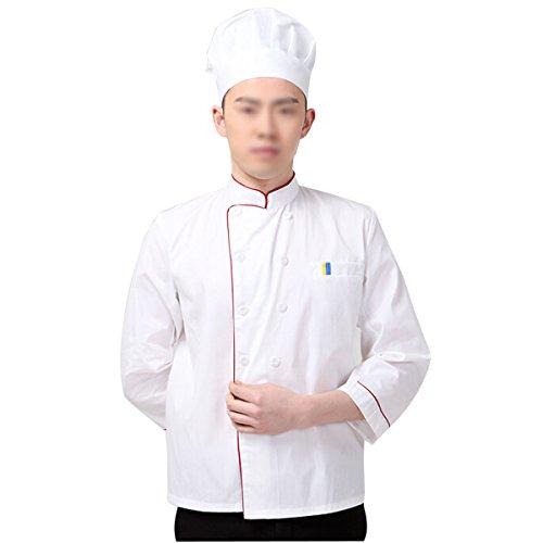 NanxsonTM-Unisex-Herren-Kochjacke-Baumwolle-Wei-Langarm-Kochkleidung-Uniform-Berufsbekleidung-mit-knpfen-CFM0002-0