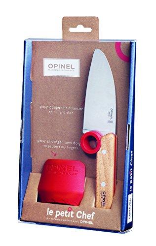 Opinel-Le-petit-Chef-Kinder-Kchenmesser-Set-2-teilig-Kochmesser-Fingerschutz-rostfrei-0