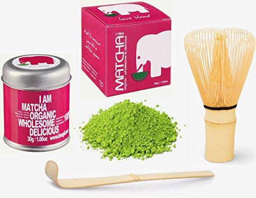 SOMMERAKTION-30g-Original-BIO-VEGAN-Matcha-Starter-Set-Markenprodukt-von-imogti-DLG-Prmiert-2016-30g-original-Bio-Matcha-Original-Matcha-Bambusbesen-Matcha-Lffel-geschenkt-0