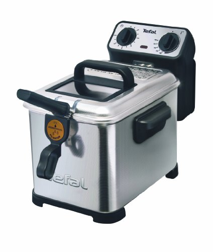 Tefal-FR5101-Fritteuse-Filtra-Pro-Inox-and-Design-Timer-wrmeisoliert-Clean-Oil-System-2300-W-edelstahl-schwarz-0