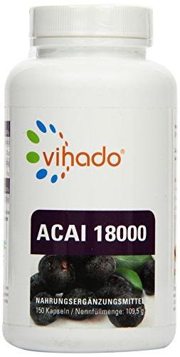 Vihado-Acai-18000-MAXIMUM-hochdosierter-original-Beeren-Extrakt-150-Kapseln-1er-Pack-1-x-1095-g-0