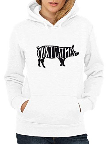 clothinx-Damen-Kapuzenpullover-Dont-Eat-Meat-0