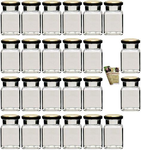 gouveo-Set-Einmachglser-Quadrat-150-ml-incl-Verschluss-0