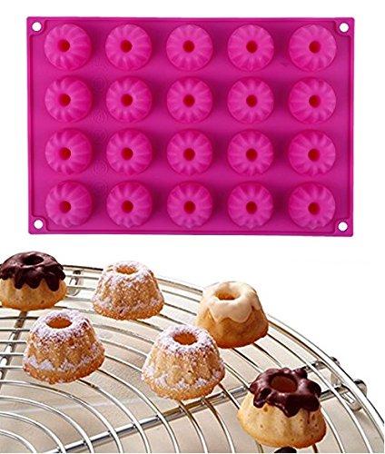 ren-20er-Mini-Gugelhupf-Backform-Silikon-Gugelhupfform-Eiswrfelform-Schokoladenform-30x20x23cm-Rosa-0