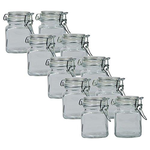 versandfuxx24-10-einfache-eckige-Gewrzglser-100-ml-Glasdosen-mit-Bgelverschluss-0