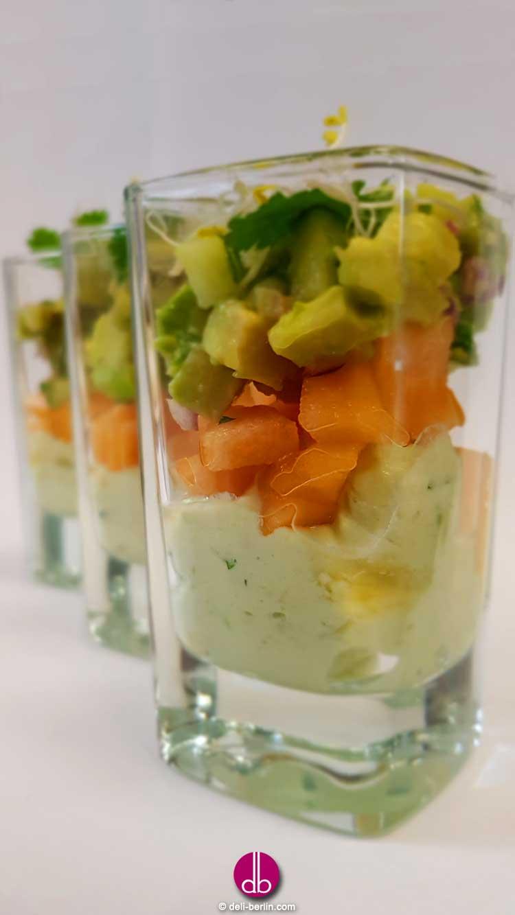 Verrine von Avocado-Melonen