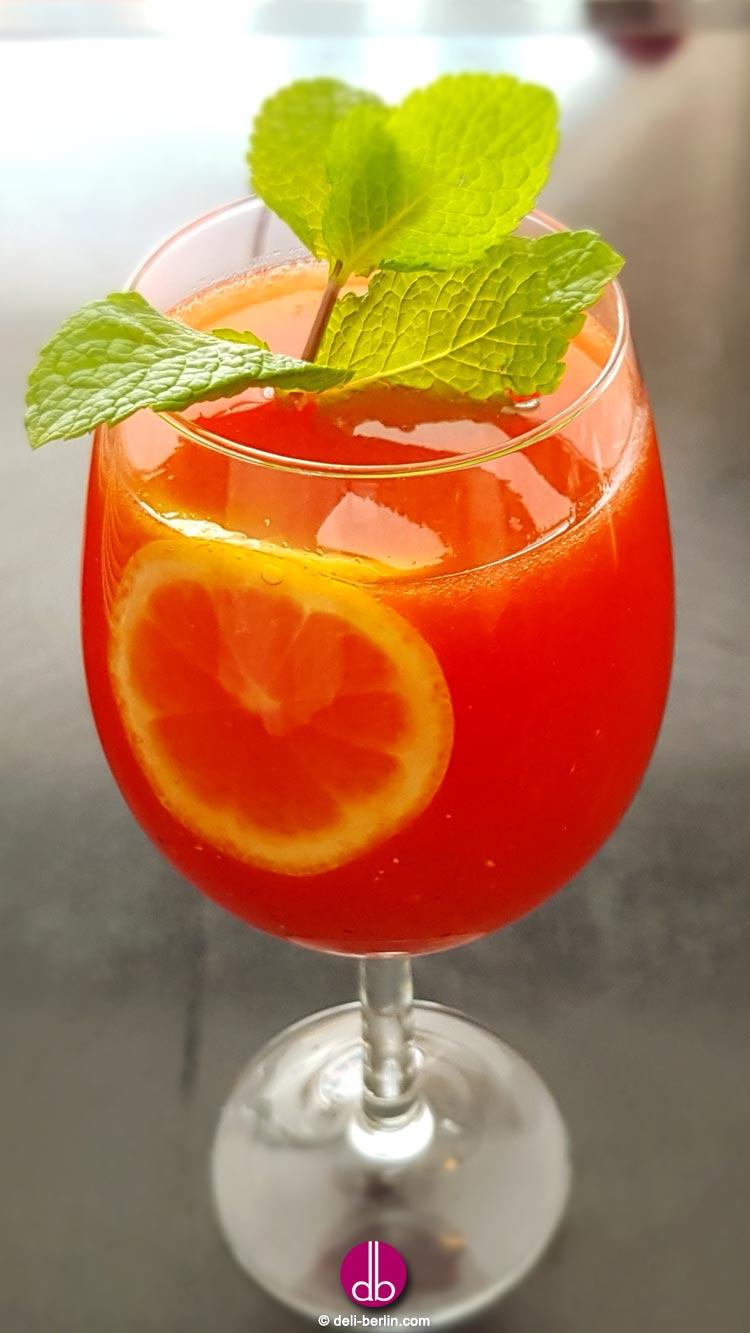 Melonen-Minz-Limonade selbstgemacht