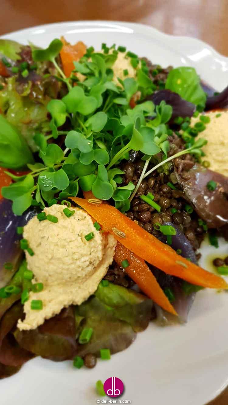 Linsensalat mit gerösteten Cumin-Karotten - vegan