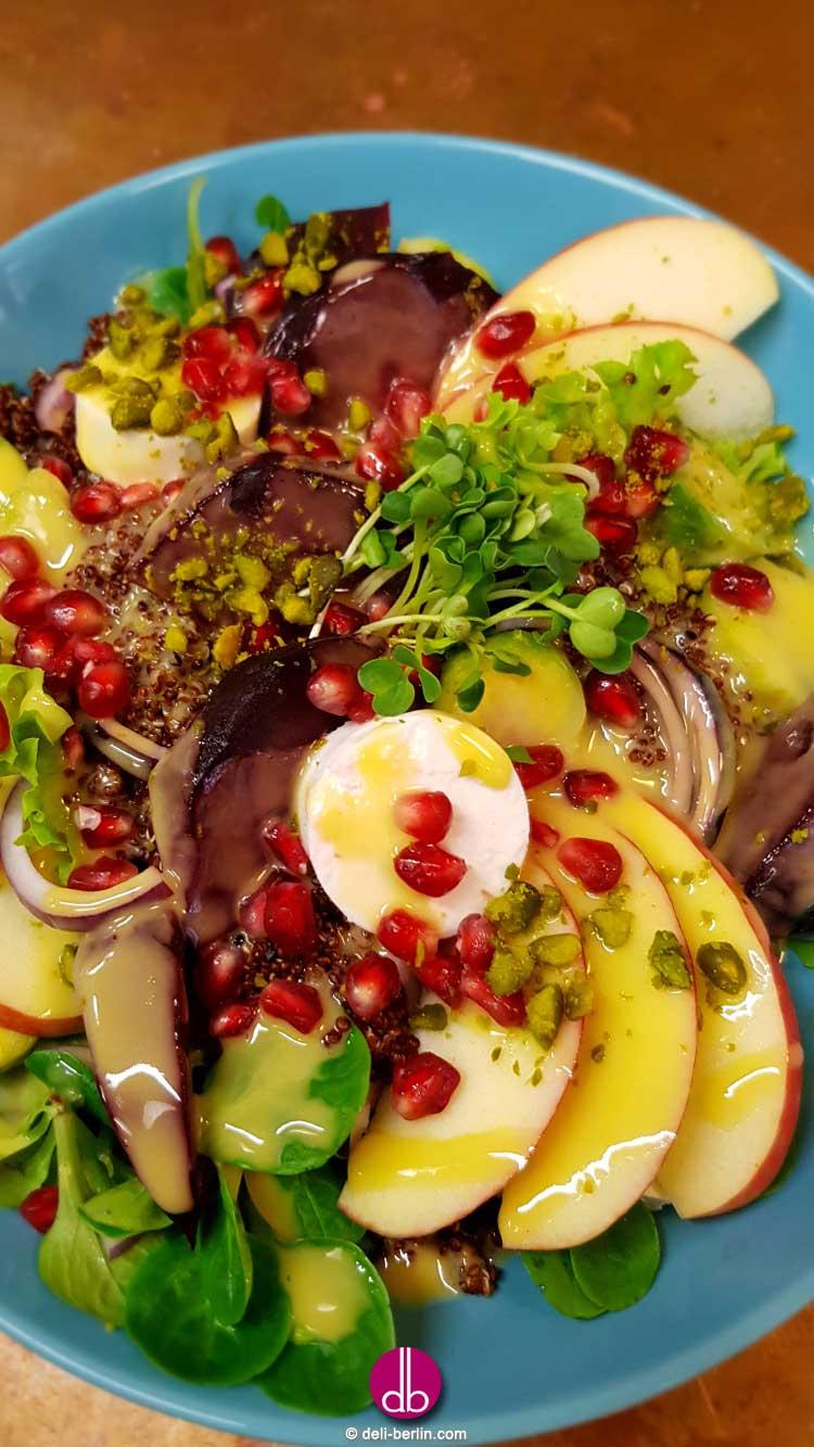 Quinoa Winter Salat mit Rote Bete