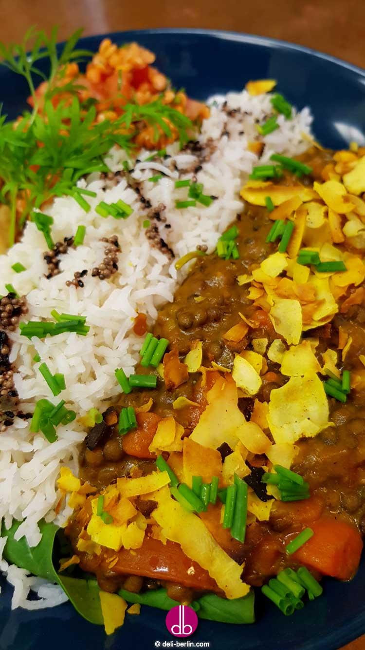 Indisches Kokos-Linsen-Curry - vegan und glutenfrei
