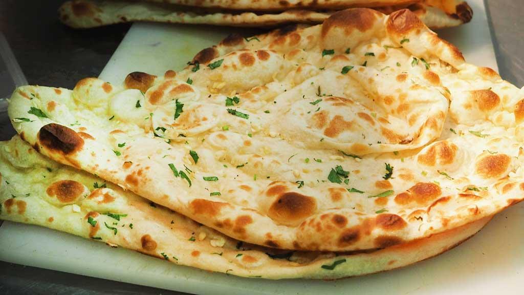 Naan-Brot glutenfrei, vegan, fluffig und weich
