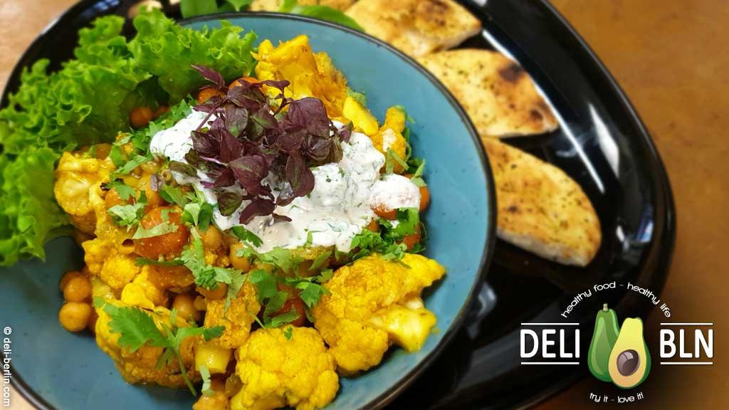 Indischer Blumenkohl-Curry-Topf - vegan