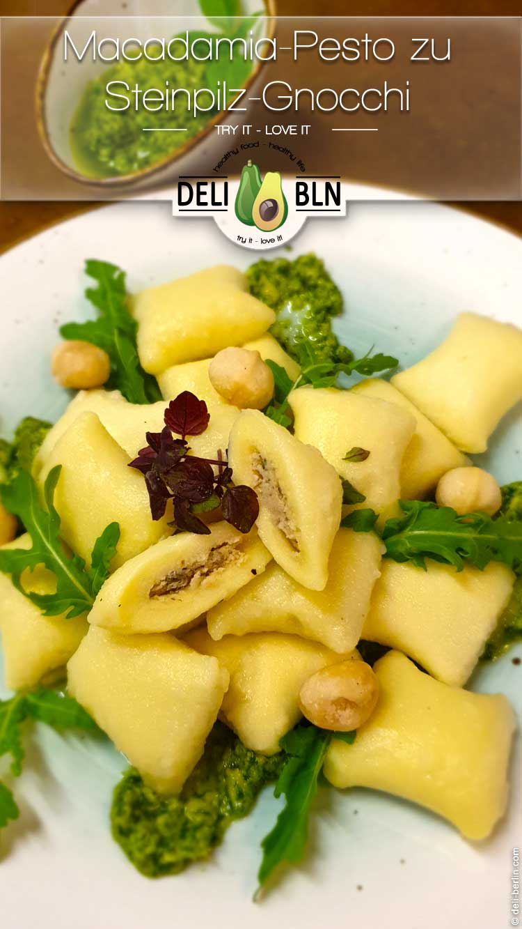Steinpilz Gnocchi mit Macadamia pesto