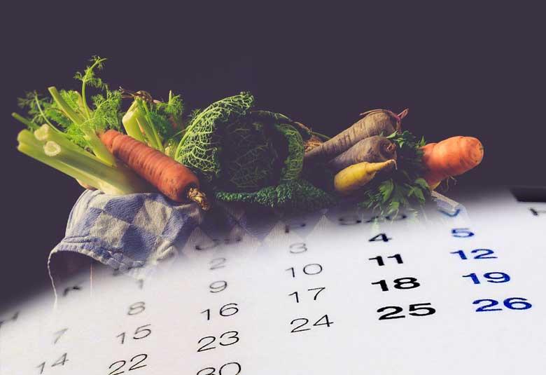 Saisonkalender für einheimisches Obst und Gemüse