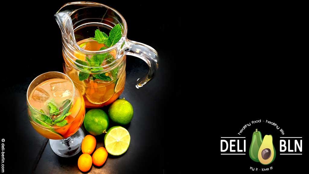 hausgemachter Kumquat-Eistee - so frisch und sommerlich