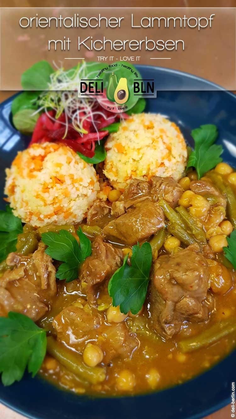 Rezept: orientalischer Lammtopf mit Kichererbsen & duftenden Gewürzen