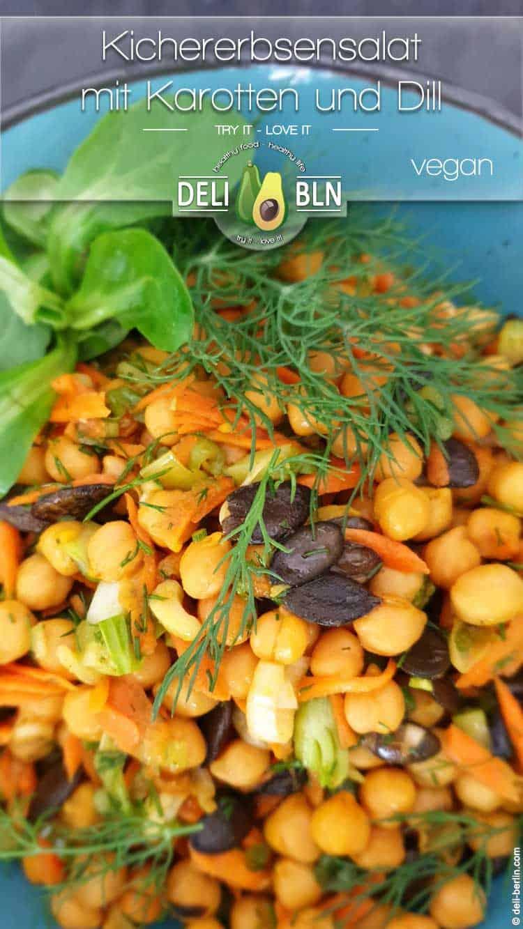 Kichererbsensalat mit Karotten und Dill - vegan & glutenfrei