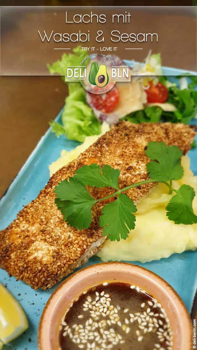 Lachsfilet mit asiatischer Wasabi-Sesam-Kruste