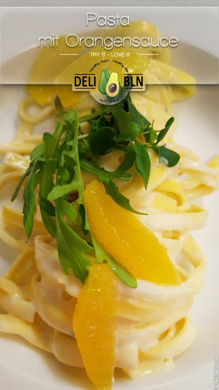 Orangen-Creme-Pasta - ein 15 Minuten Rezept