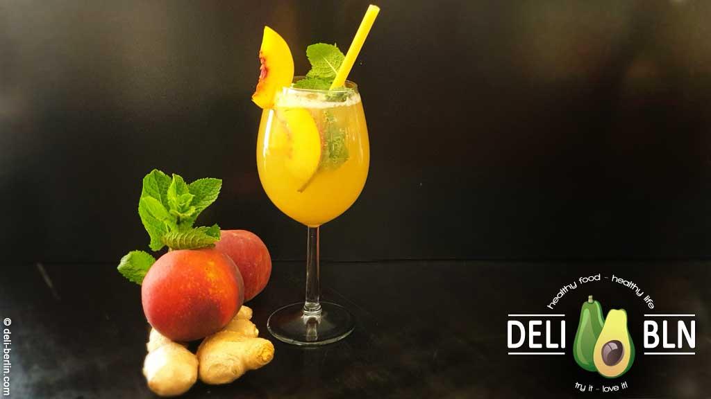 Ingwer-Pfirsich-Soda - Rezept für eine leckere Sommer-Limonade