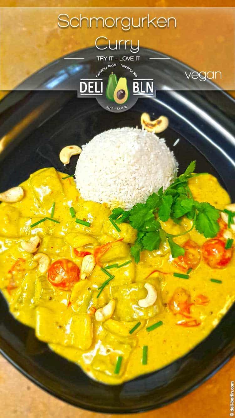 Rezept: Gurkencurry mit Kokosmilch und Basmatireis