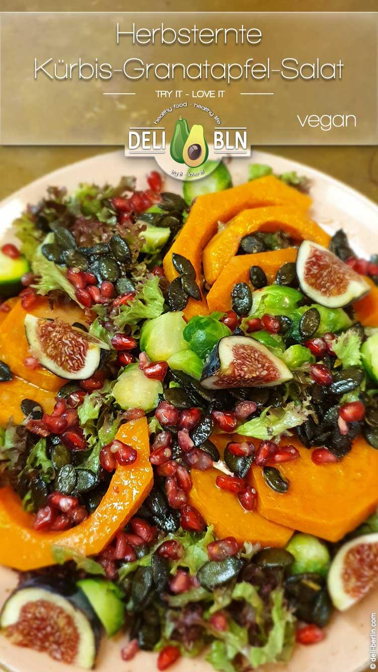 Herbsternte – gerösteter Butternusskürbis-Granatapfel-Salat