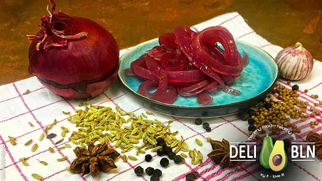 eingelegte rote Zwiebeln - ein schnelles und einfaches Rezept