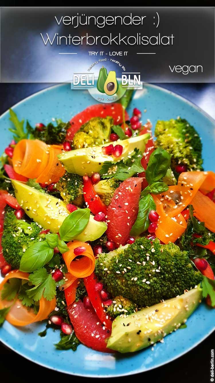 Winterbrokkolisalat nicht nur hübsch, sondern auch unglaublich lecker