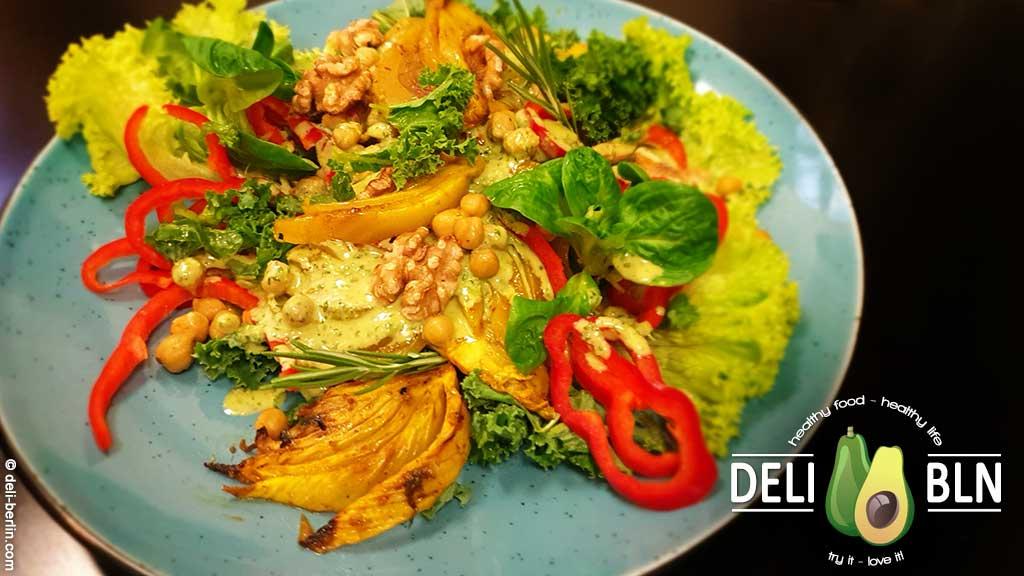 curry gebackener Fenchelsalat