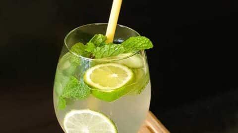 erfrischende Gurken-Limetten-Limonade mit Agavendicksaft
