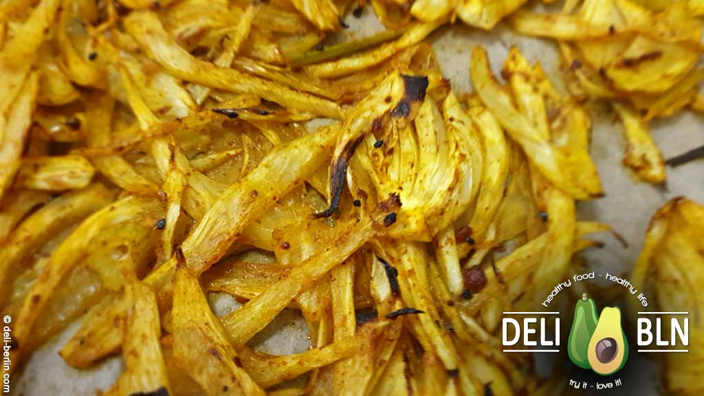 Rezept: Curry-Gebackener Fenchelsalat - vegan