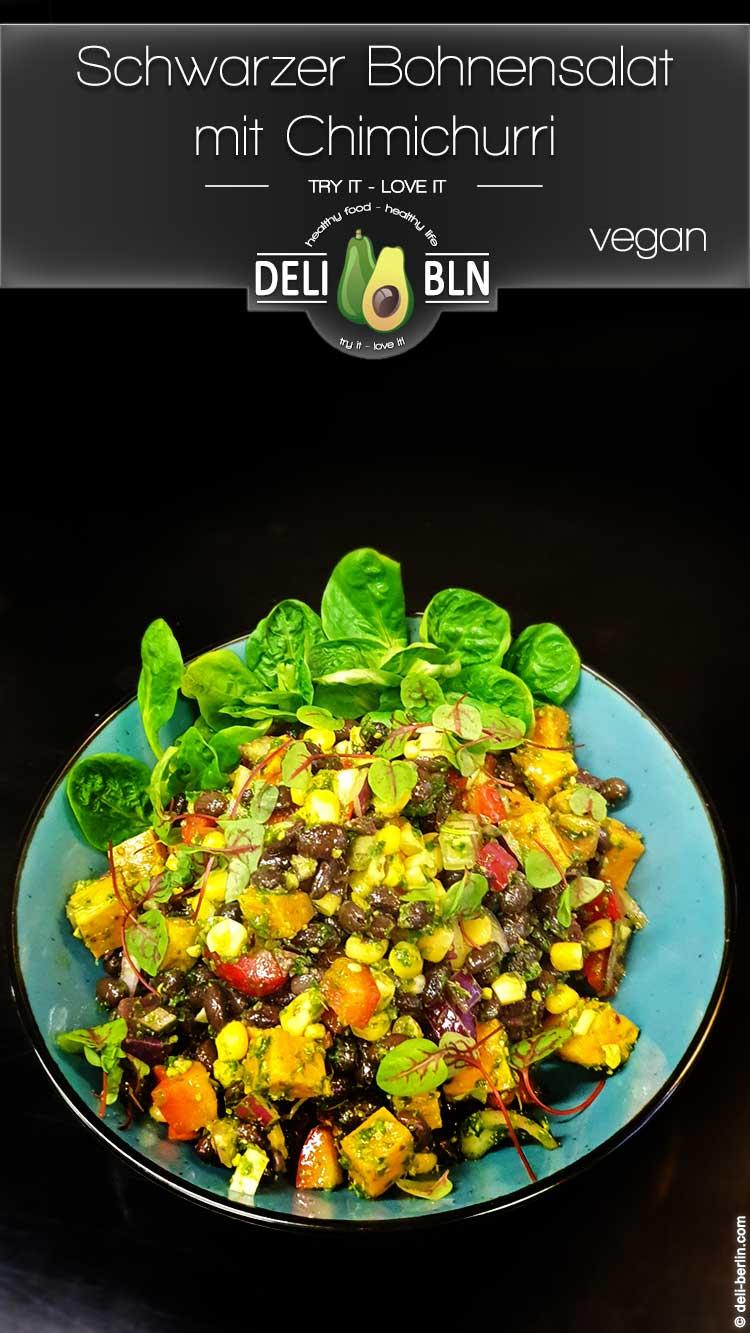 Schwarzer Bohnensalat mit Chimichurri - vegan / glutenfrei