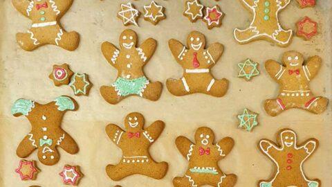vegane Lebkuchen-Männchen - Weihnachtsplätzchen