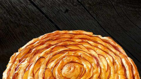 leckere Apfeltarte auf Vanille-Creme ganz einfach zuhause backen