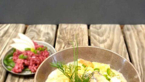 Fischkessel zu Rote-Bete-Hirse-Salat mit fruchtigem Apfel