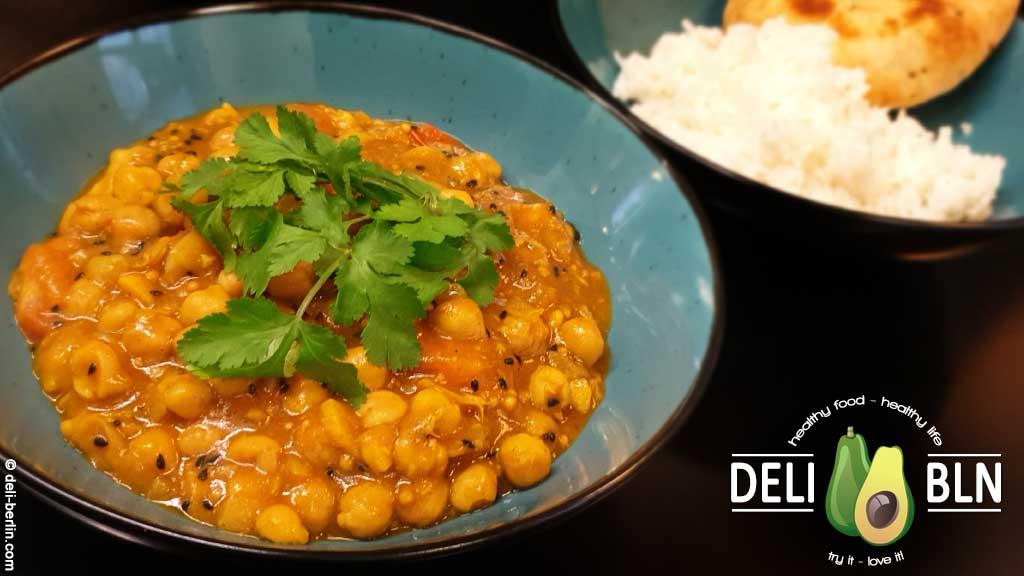 Kichererbsen-Curry mit ausgewählten Ayurveda-Gewürzen - vegan & glutenfrei