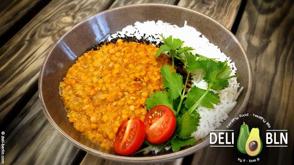 Rotes Linsen Dal vegan und schnell gekocht